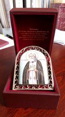 Икона финифть Пресвятая Богородица Тихвинская
