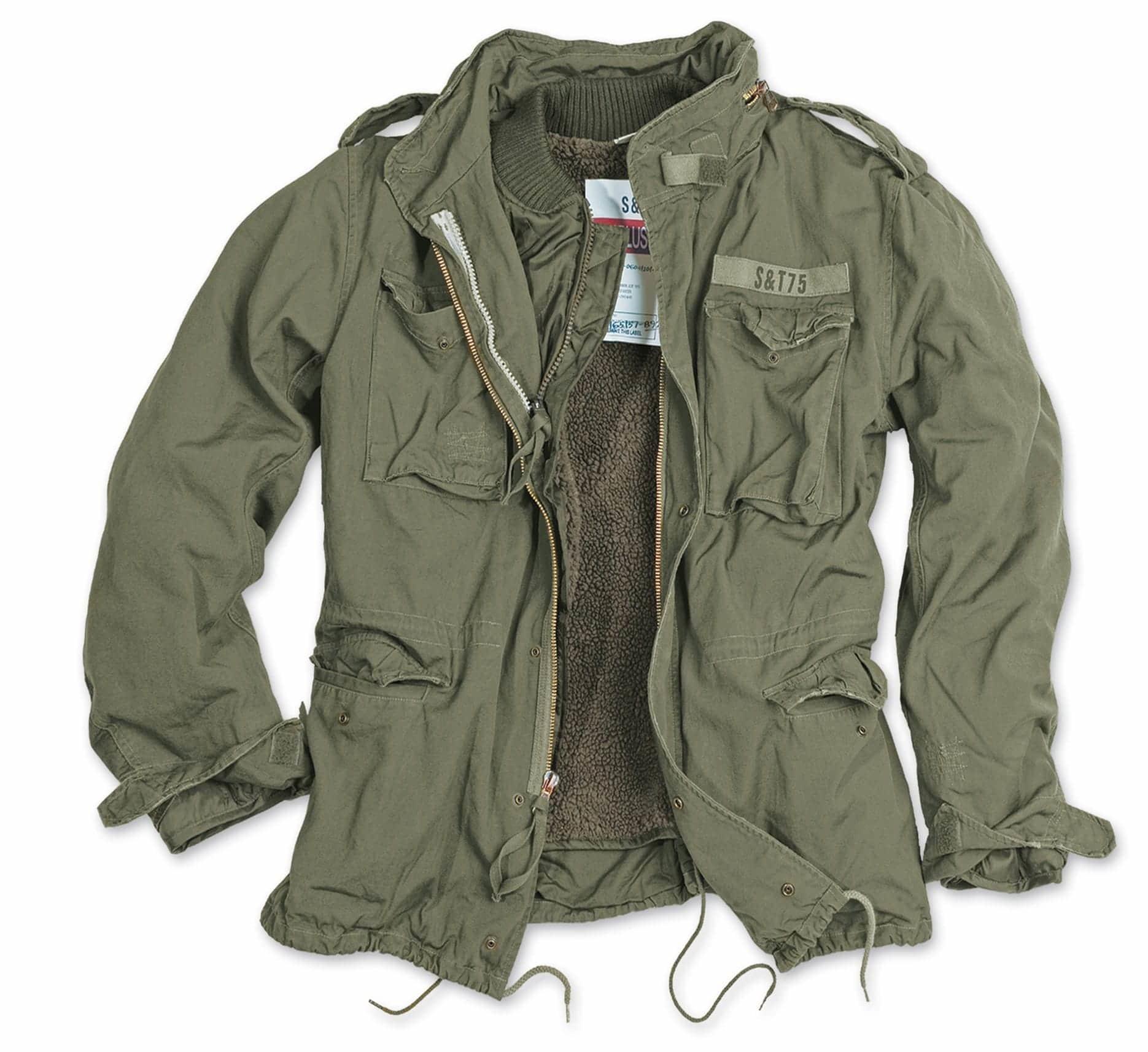 Куртка полевая Surplus M-65 Regiment Vintage (олива - olive)