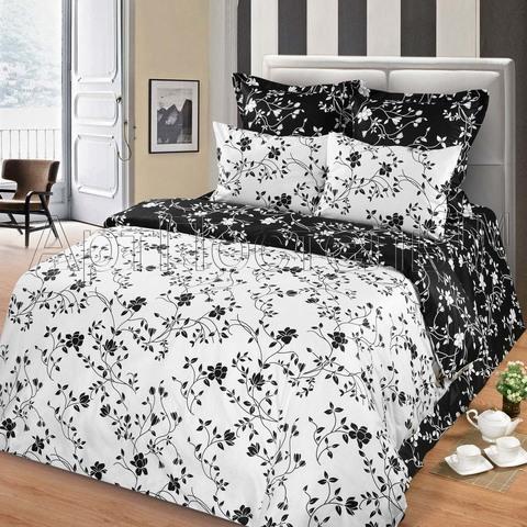 Комплект постельного белья 1,5 спальный Сатин Жемчуг