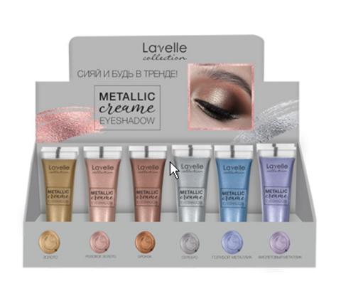 LavelleCollection Тени жидкие Metallic creame MIX 6 шт (разный ш/к) в ассортименте