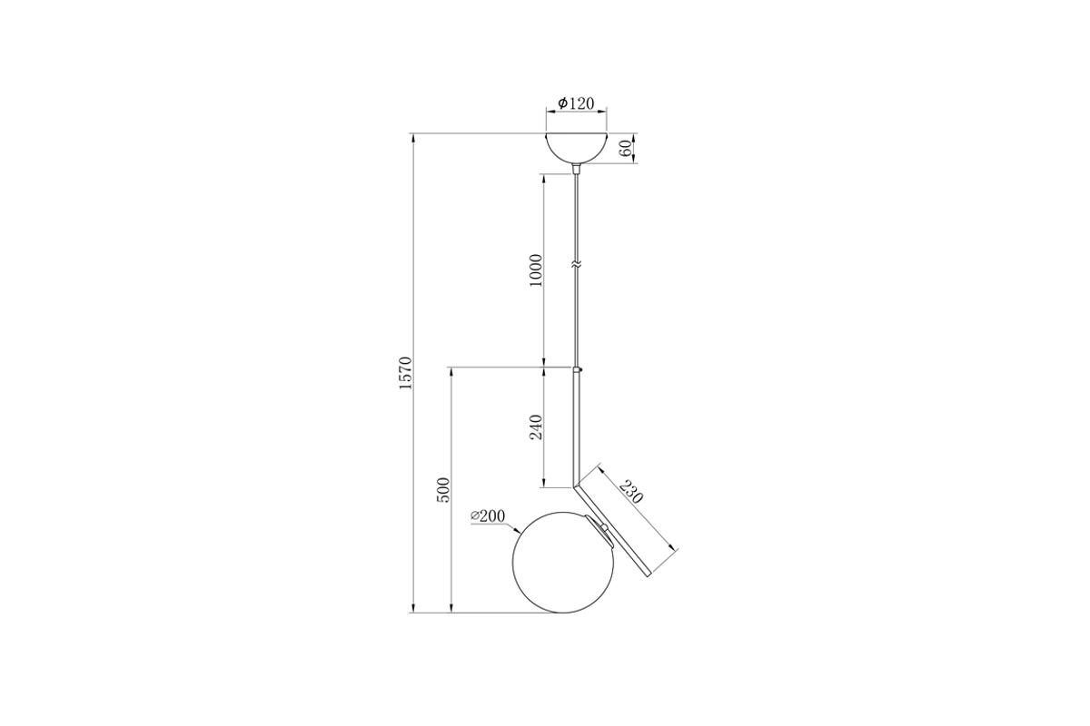 K2GP-825BR-S Светильник потолочный d20*48см