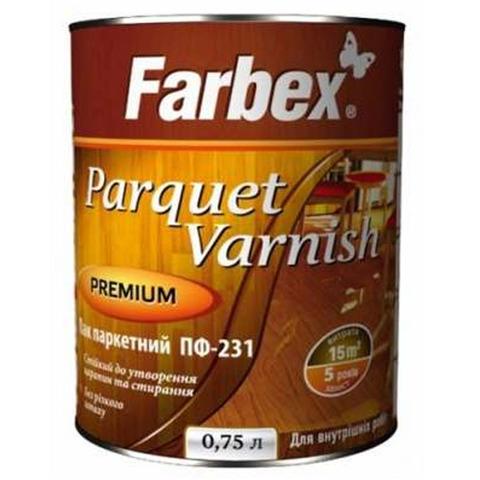 Лак паркетный ПФ-231 Farbex - 0,75 л