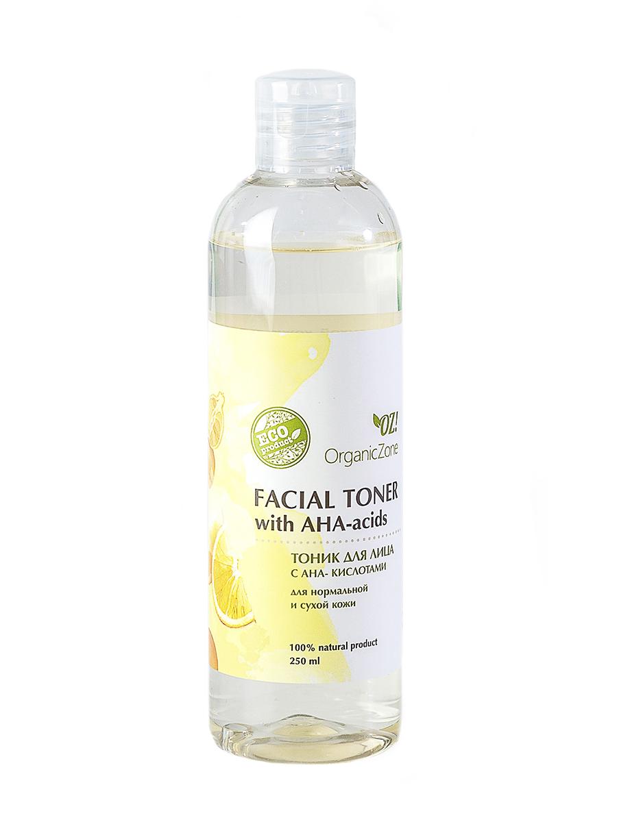 Тоник для лица с АНА-кислотами для нормальной и сухой кожи OrganicZone