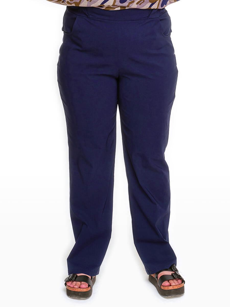 Прямые брюки тёмно-синие