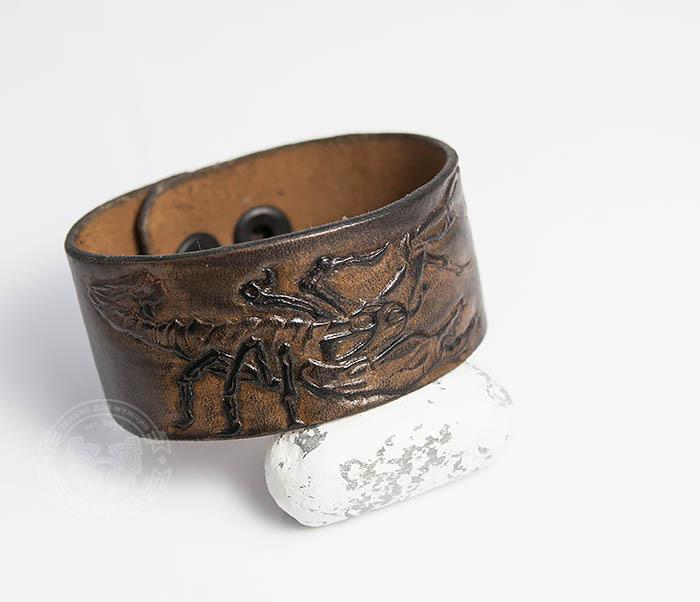 BL475 Мужской браслет со скорпионом ручной работы