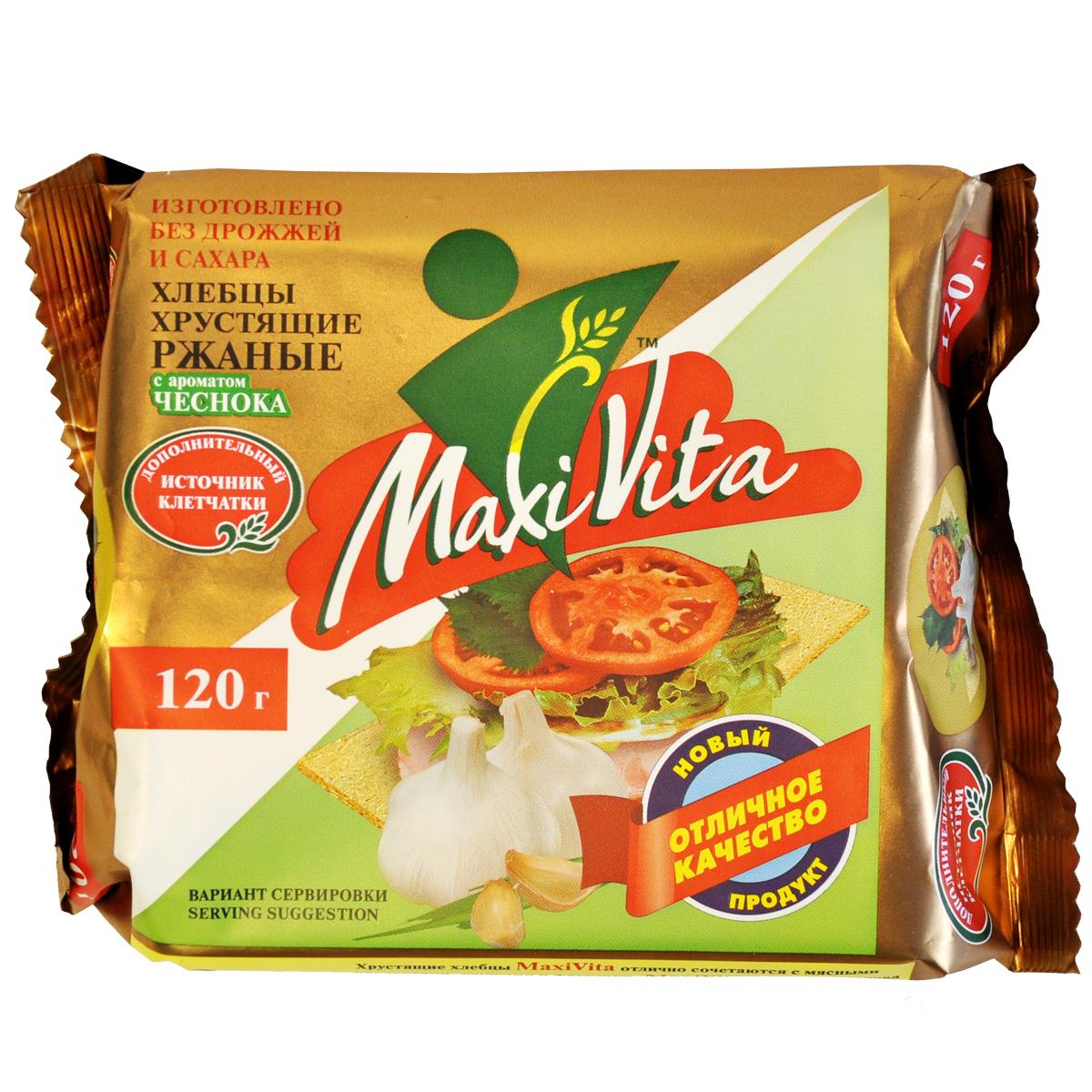 Хлебцы ржаные с чесноком MaxiVita 120 гр