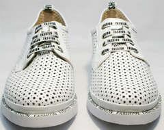 Спортивные дерби туфли кроссовки женские белые GUERO G177-63 White.