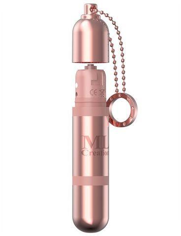 Розовый мини-вибратор на цепочке Glittering Bullet - 9 см.