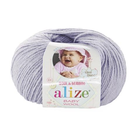 Пряжа Alize Baby Wool серо-сиреневый 713