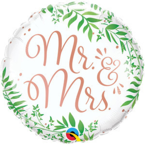 Шар круг Свадьба Mr or Mrs