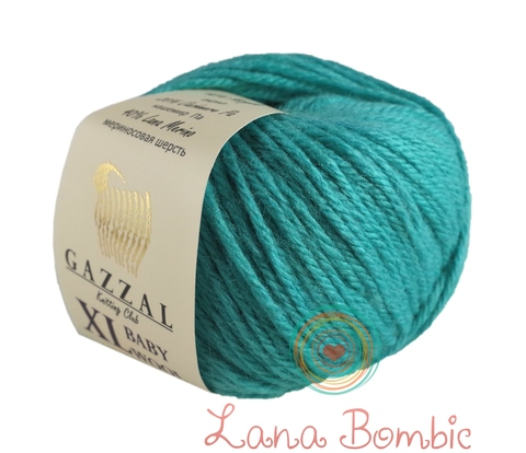 Пряжа Gazzal Baby Wool XL лазурный 832