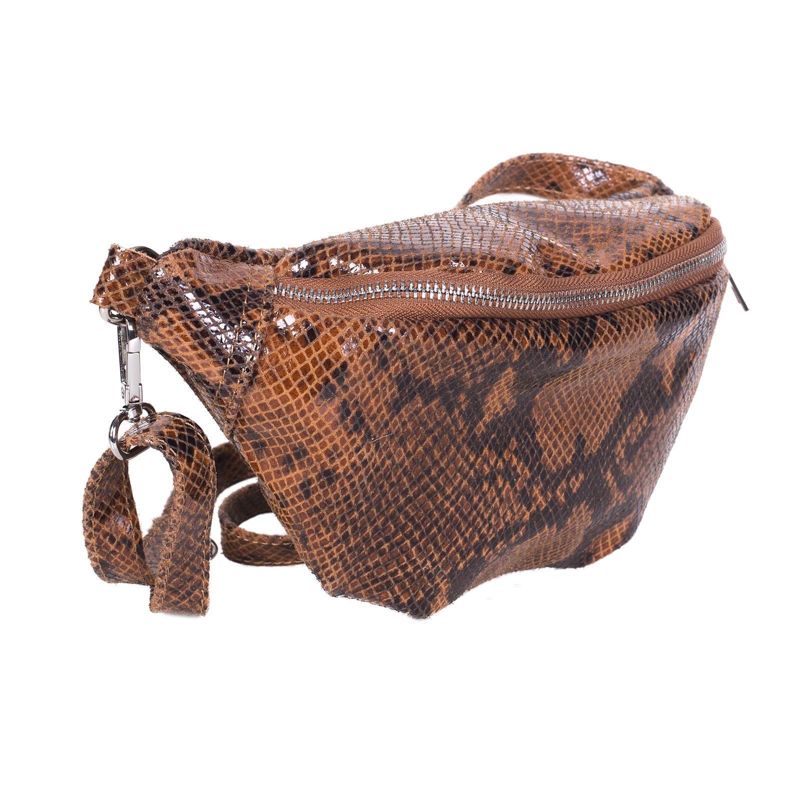 Fanny pack, UNO, Lauryn (коричневый питон)