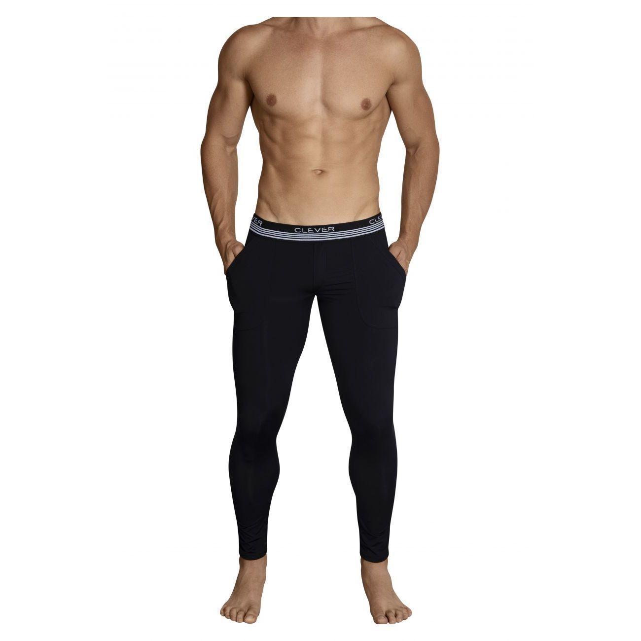Мужские кальсоны черные Clever Juliano Long Pant 031511