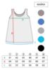 МАЙКА Colortop на широких бретелях трапеция удлиненная