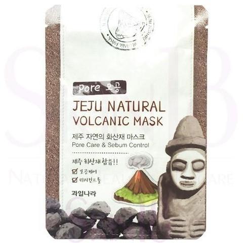 Маска с вулканическим пеплом для очищения пор и контроля жирности кожи Welcos Jeju Natural Volcanic