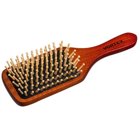 Расческа деревянная, массажная, 20 см, «прямоугольник», с деревянными зубчиками