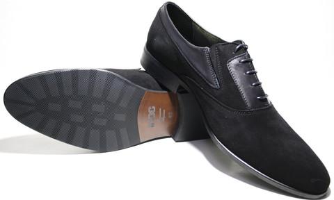 Замшевые туфли мужские осфорды IKOC черные 42-й размер