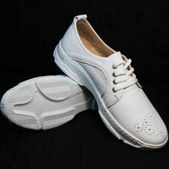 Летние кроссовки женские кожаные Derem 18-104-04 All White