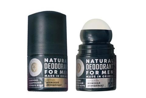 Дезодорант натуральный для мужчин ACTIVE с черноморскими водорослями (Дп)