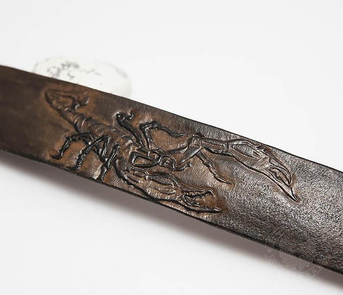 BL475 Мужской браслет со скорпионом ручной работы фото 03