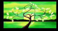 """Постер """"Зеленый закат"""""""