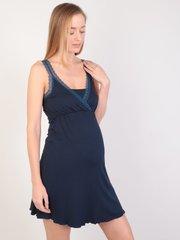 Евромама. Сорочка для беременных и кормящих с лямками из кружева, темно-синий вид 6