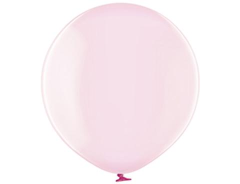 Большой воздушный шар кристалл розовый