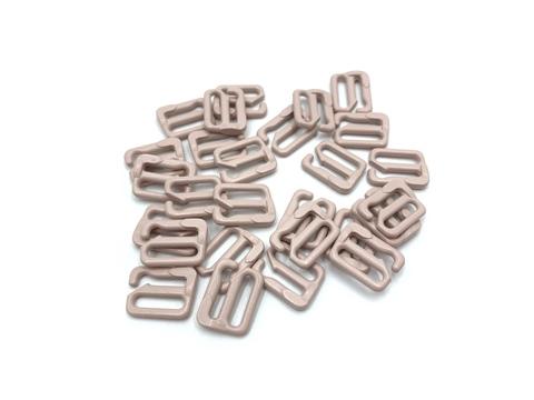Крючок для бретели серебристый пион 10мм (металл) (цв. 168)