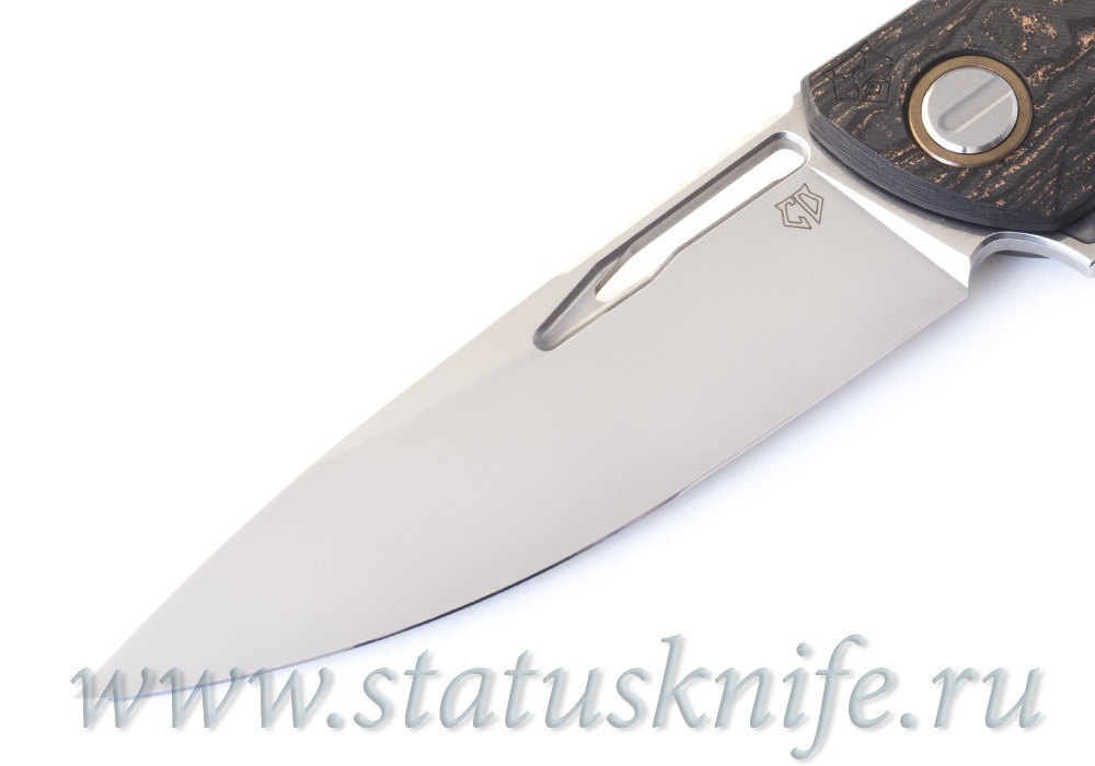 Нож Широгоров Хати CF Bronze 3D S90V Custom Division - фотография