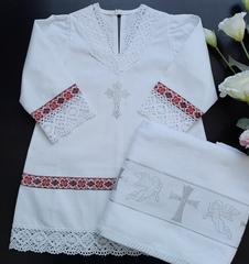 Крестильный набор для девочки Русский стиль