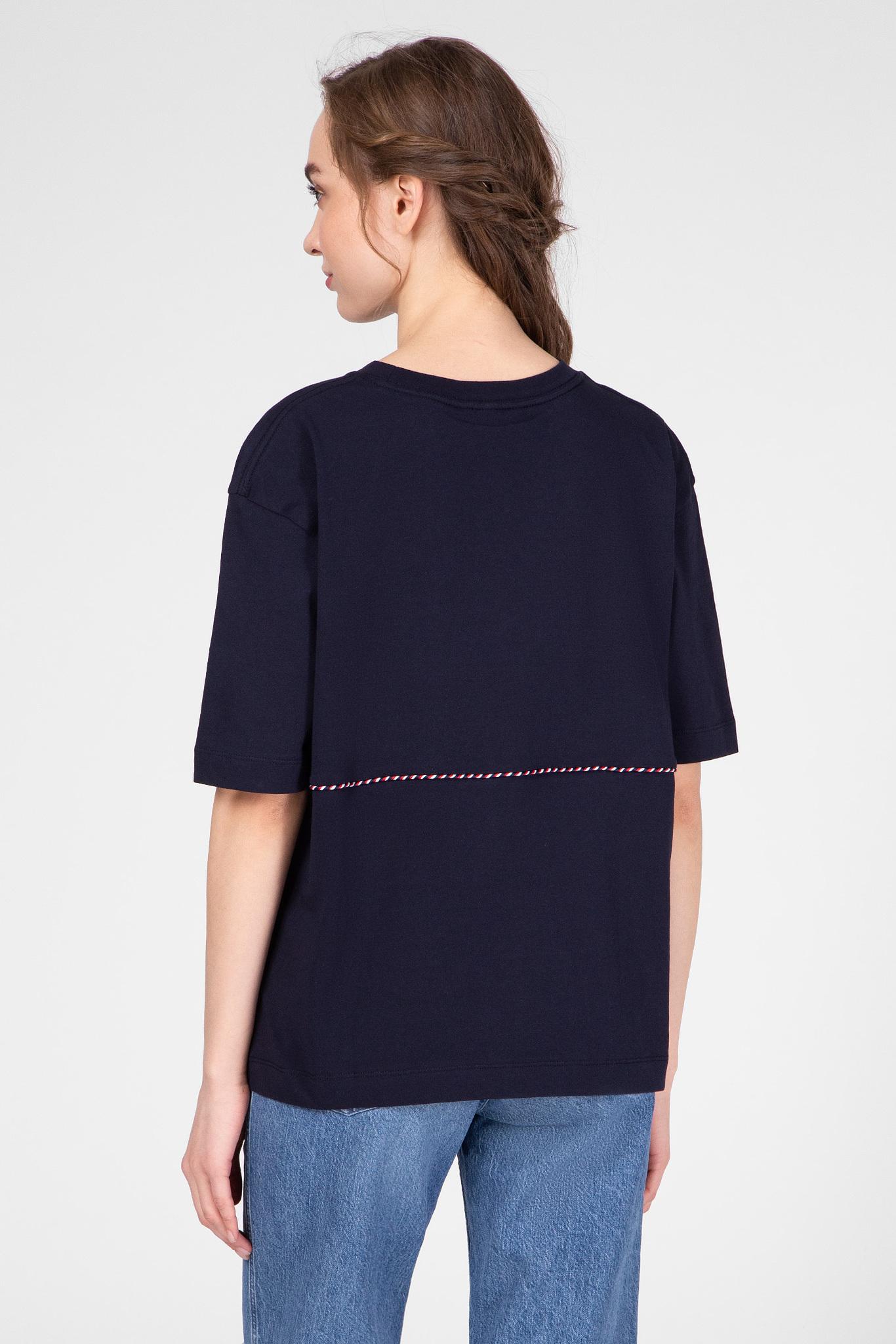 Женская темно-синяя футболка PILAR Tommy Hilfiger