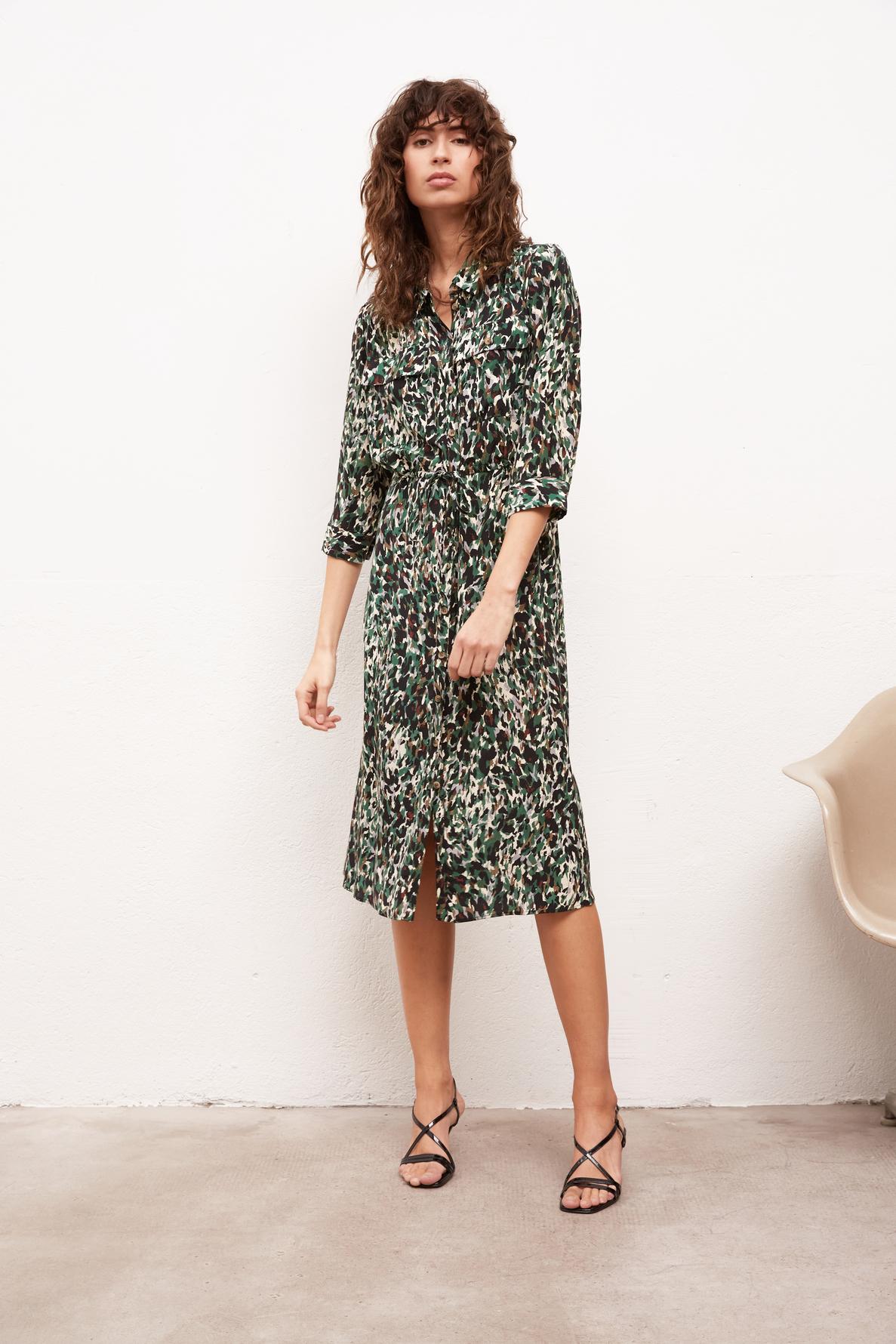 SIMONA - платье-рубашка с художественным принтом