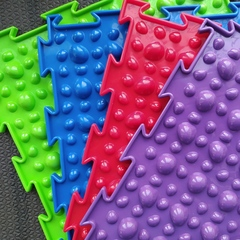 Массажный коврик Камешки мягкие модульный коврик-пазл