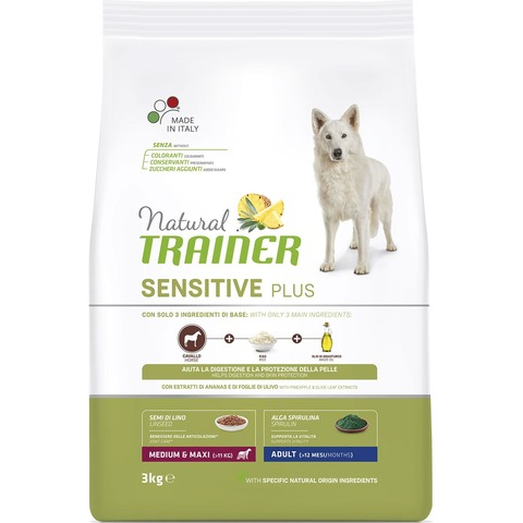 Сухой корм Natural Trainer Sensitive Plus Adult Medium&Maxi Horse 12 кг.
