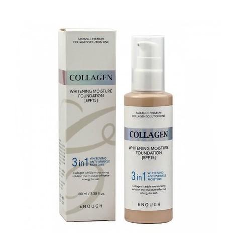 Enough Collagen Тональный крем 3 в 1 для сияния кожи, 13 тон Whitening Moisture Foundation SPF 15, 100 мл