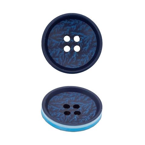 Пуговица Черный+голубой