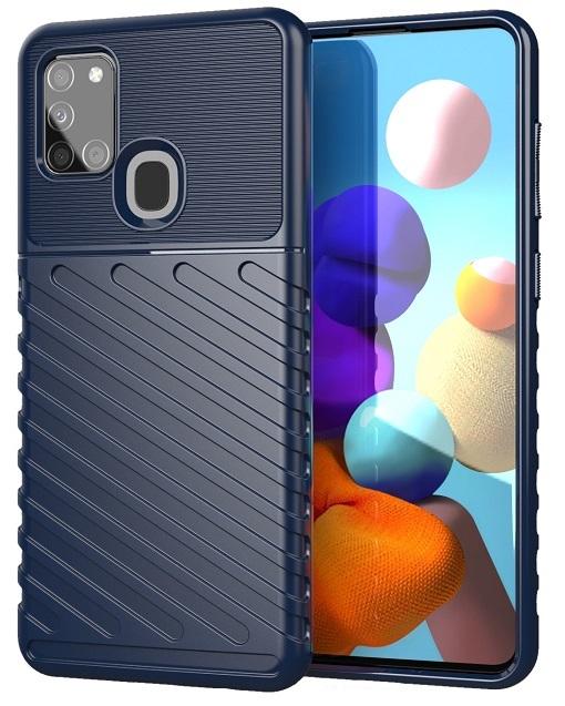 Темно-синий защитный чехол на Samsung Galaxy A21S, серия Onyx от Caseport