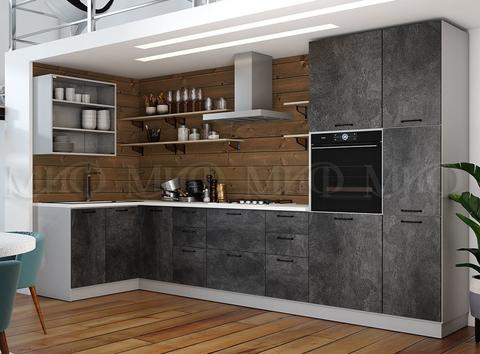 Кухня угловая Техно камень 1,4-3,6 м