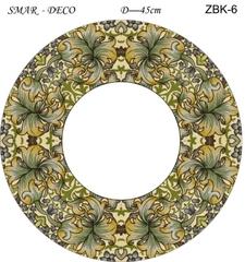 Эскиз для росписи, Зеркало диаметр-45см, SMAR-ZBK-6