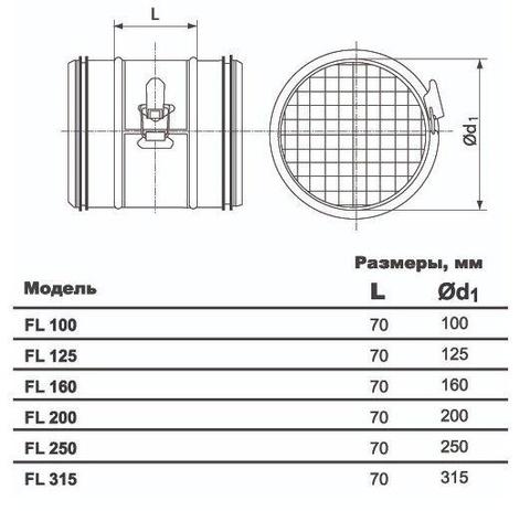 Ультракомпактный фильтр Airone FL d 100