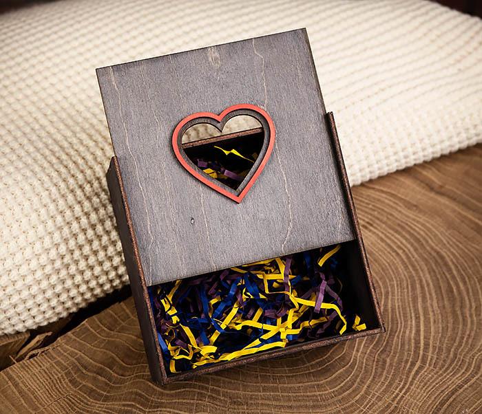 BOX210-1 Крупная подарочная коробка ко Дню святого Валентина (17*17*10 см) фото 03