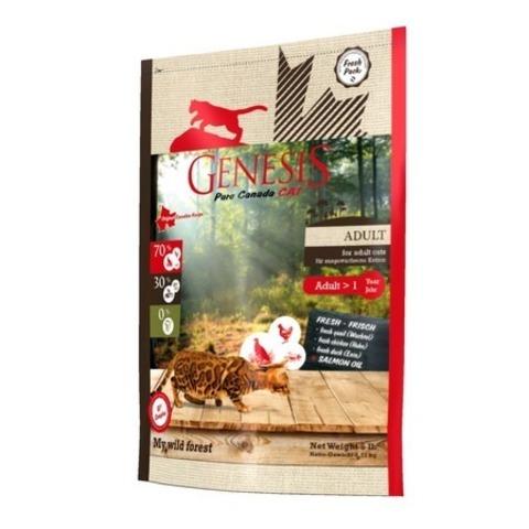 Genesis Pure Canada My Wild Forest Adult для взрослых кошек с уткой, перепелкой и курицей 2,268 кг.