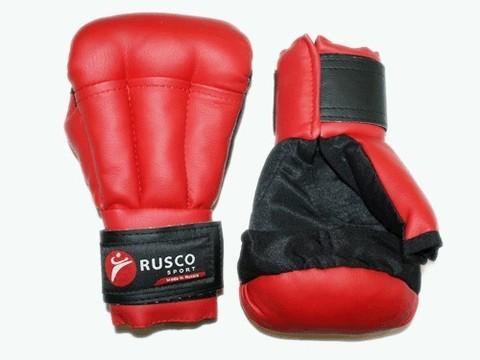 Перчатки для рукопашного боя RUSCOsport, красные, 6 Oz: к-6