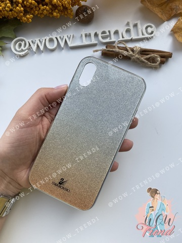 Чехол iPhone  XS Max Swarovski Case /gold/