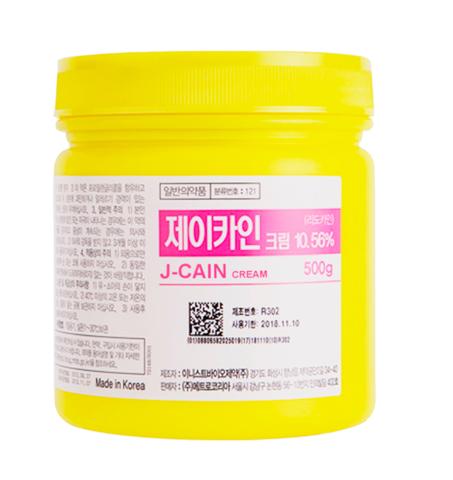 *Крем анестетик (KORU/J-CAIN cream 10.56%/500гр/U018)