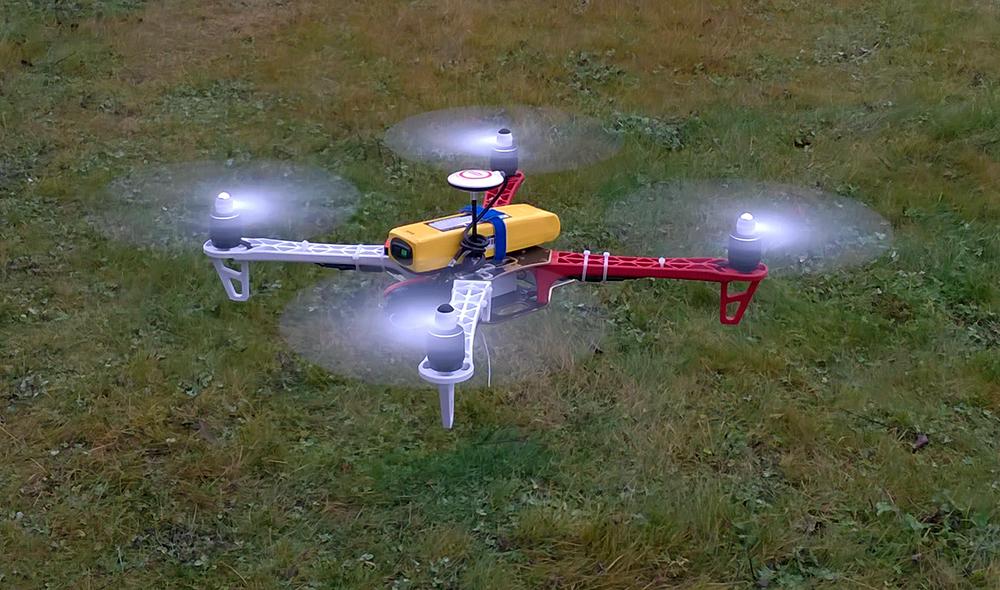 Квадрокоптер Беллини v.0.3.0 летает 25 минут
