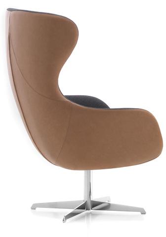 Современное лаунж кресло ELEGANCE Metall