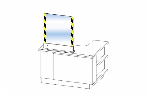 Защитный экран для ресепшена