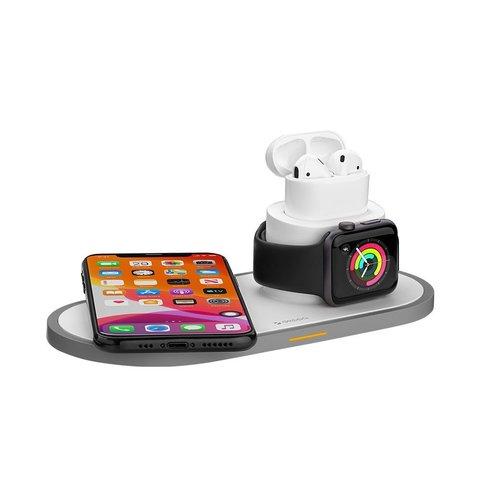 Deppa / Док станция беспроводная для iPhone, Watch series, Airpods | 15W белая