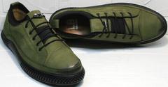 Мужские туфли кроссовки для повседневной жизни Luciano Bellini C2801 Nb Khaki.